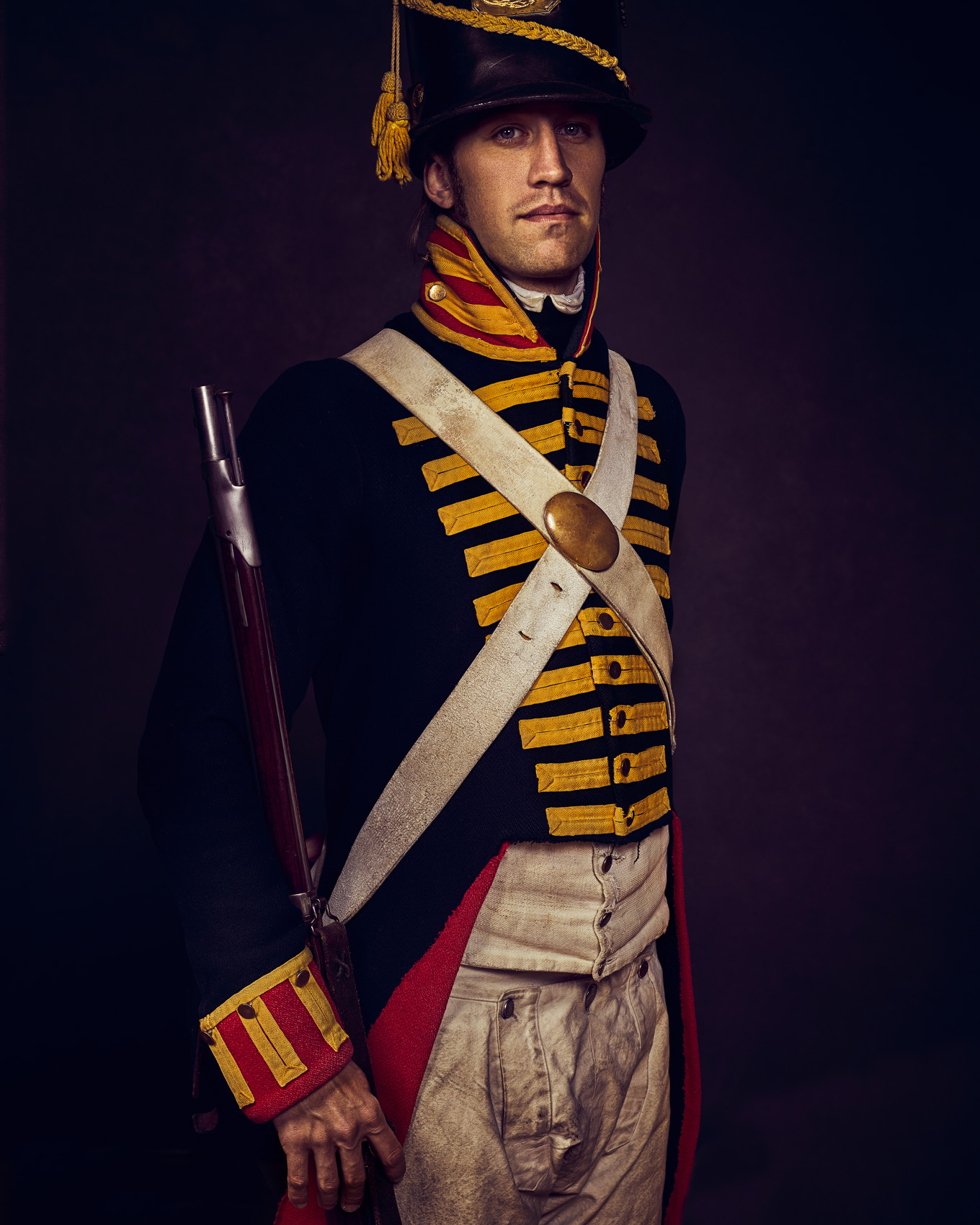 WAR OF 1812 REENACTOR AT OLD FORT NIAGARA