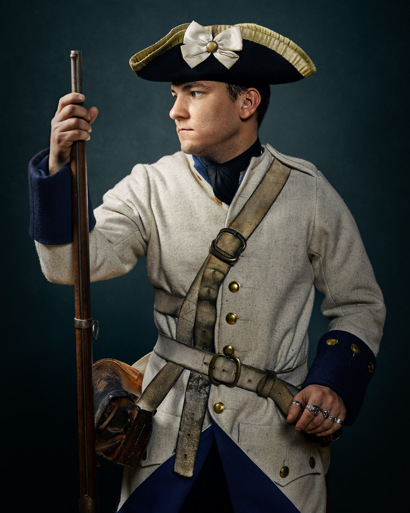 FRENCH AND INDIAN WAR REENACTOR